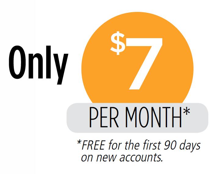 Only $7 Per Month Graphic